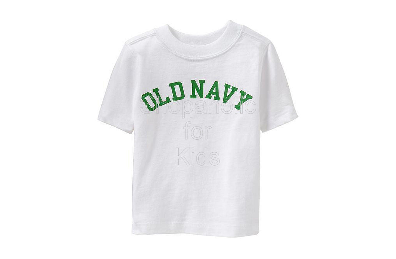 Old Navy Logo Tees - Bright White