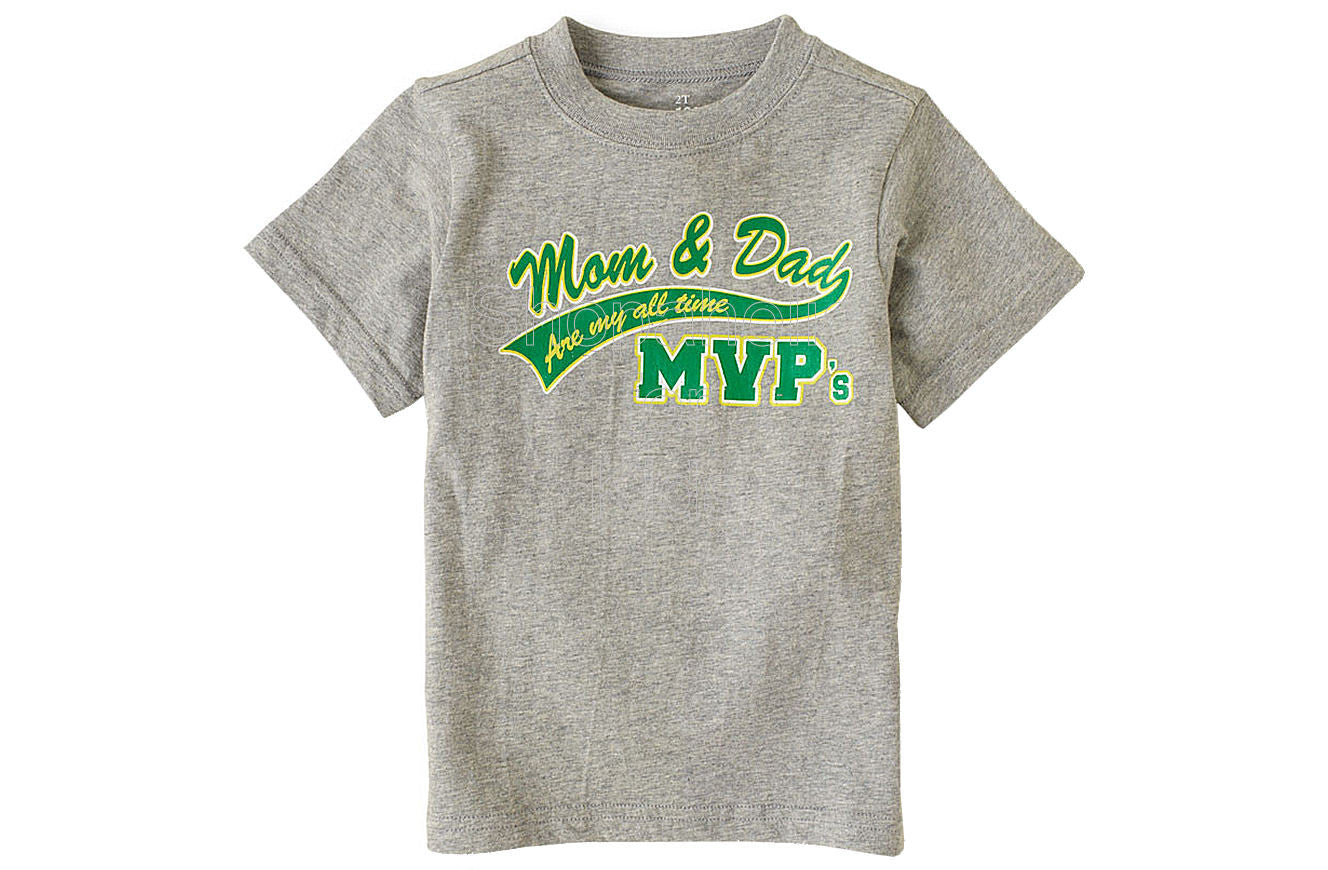 Children's Place MVP Mom and Dad Graphic Tee - Shopaholic for Kids