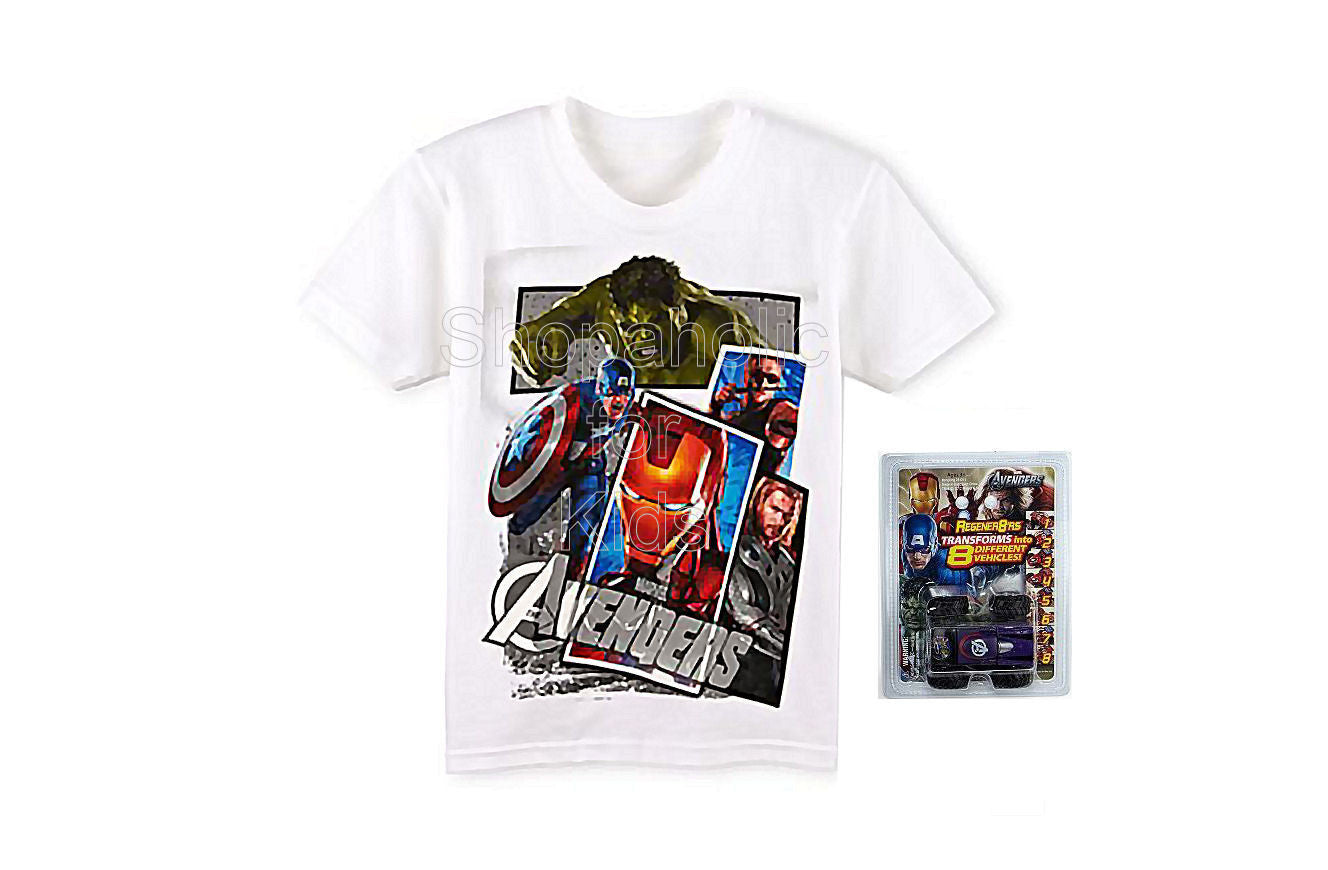 Mad Engine Avengers Tee White with Toy