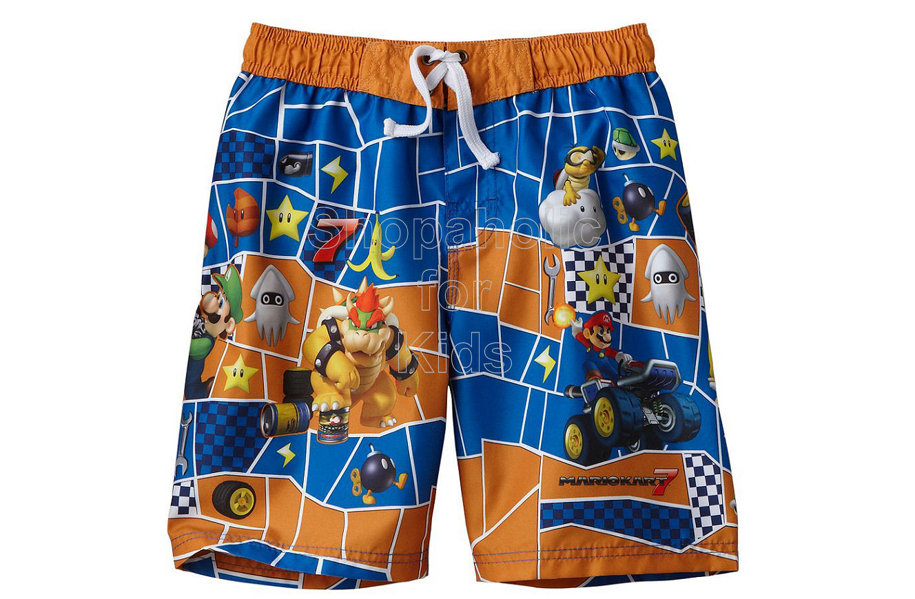 MarioKart 7 Character Swim Trunks - Boy Orange - Shopaholic for Kids