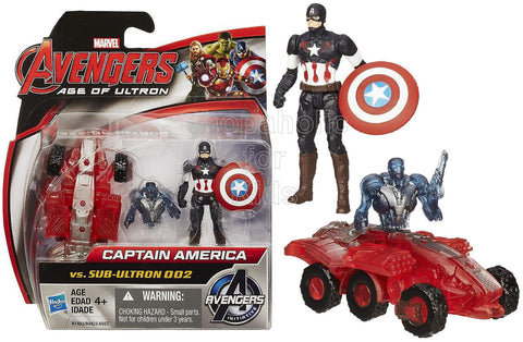 Marvel Avengers Age of Ultron Captain America Vs. Sub-Ultron 002 Figure Pack