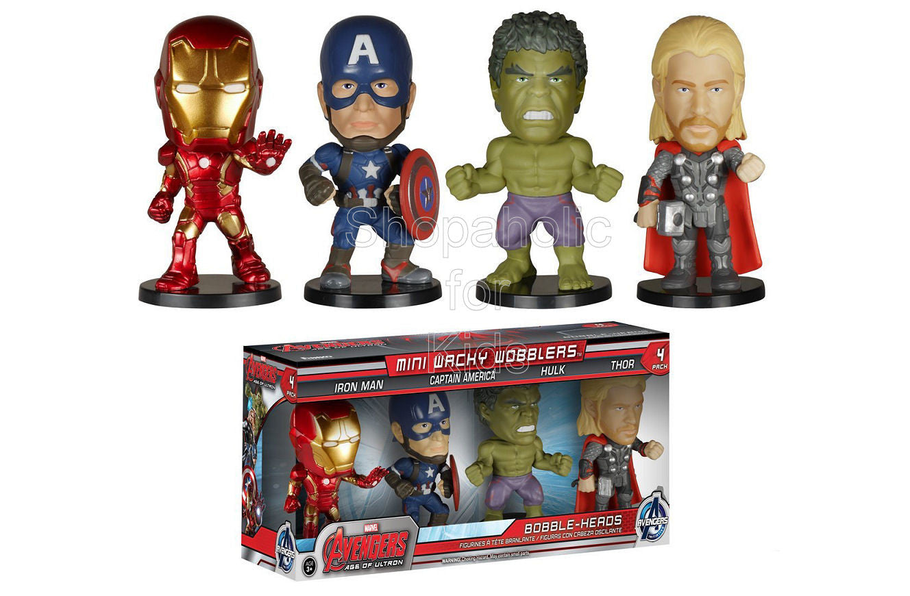 Funko Marvel Avengers Mini Wacky Wobblers - 4 pack