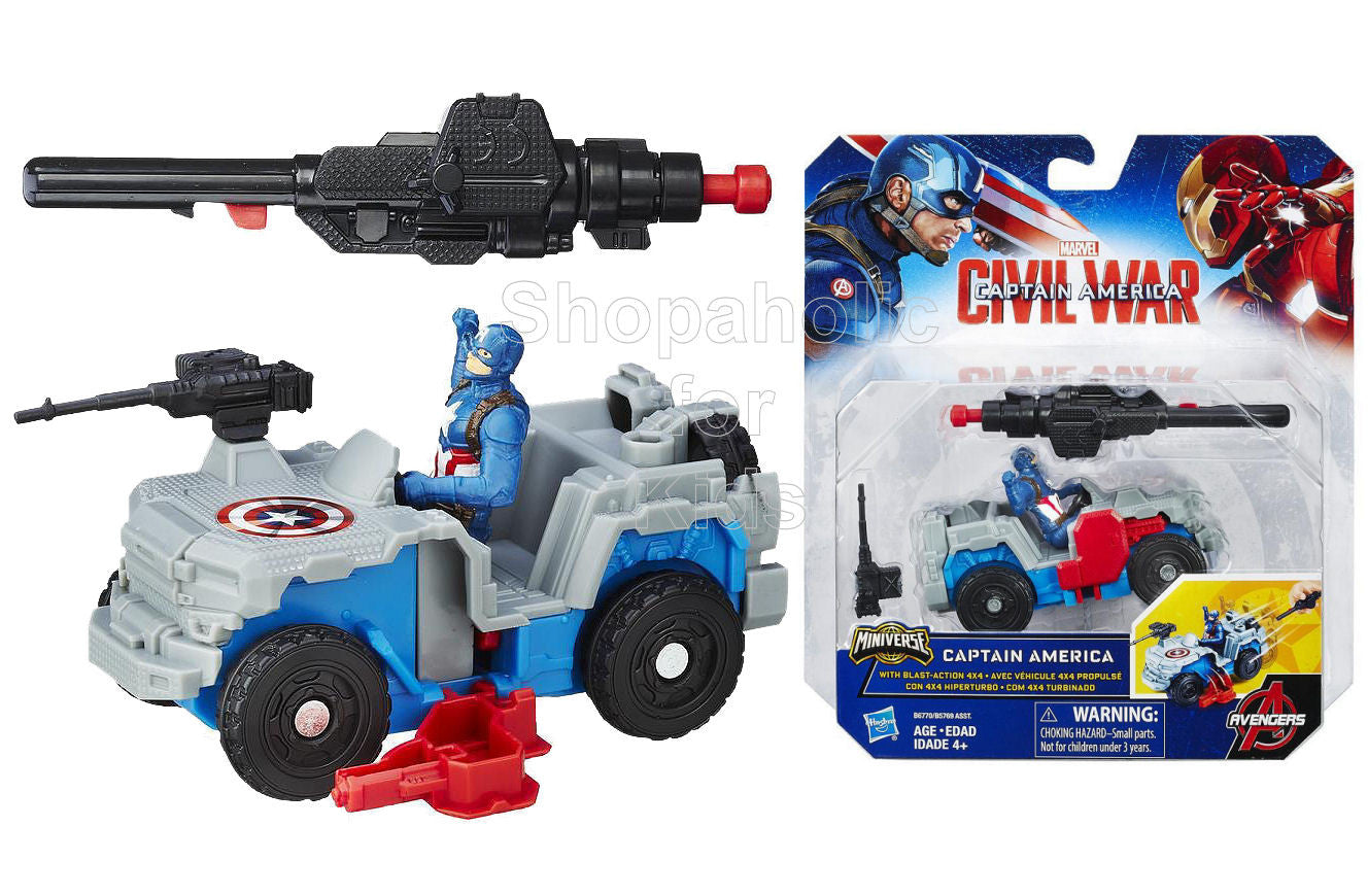 Marvel Captain America: Civil War Captain America with Blast-Action 4x4
