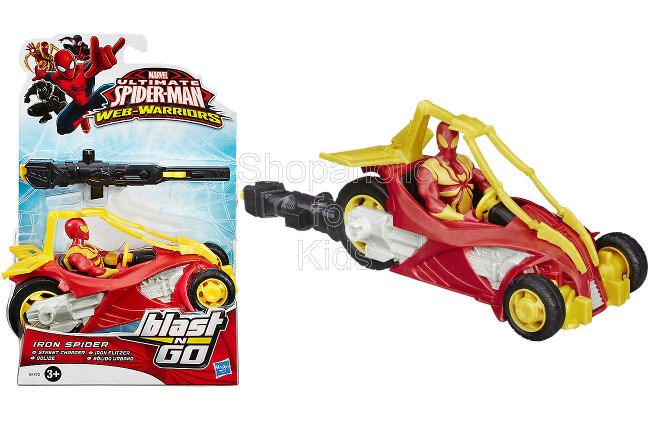 Marvel Ultimate Spider-Man Web Warriors Iron Spider Street Charger Vehicle
