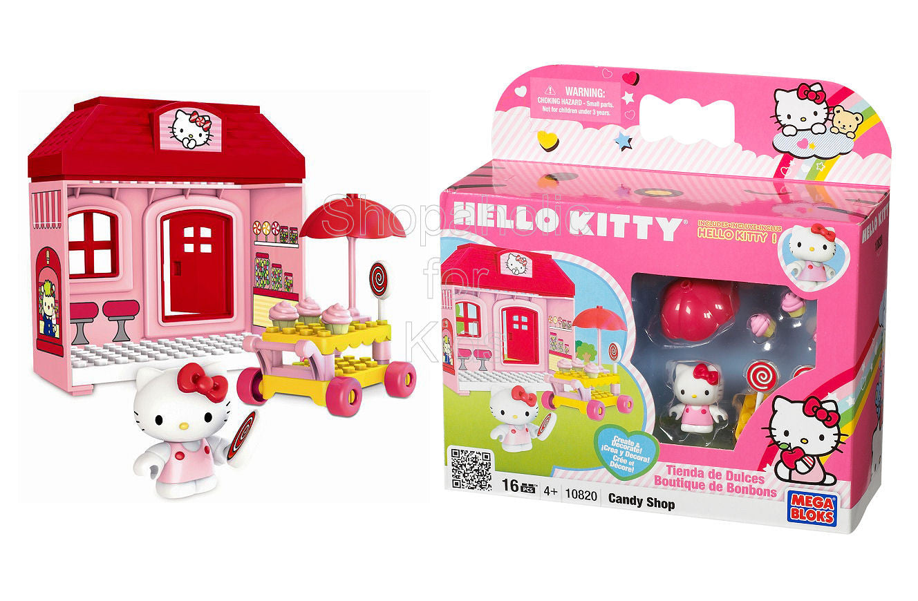 Mega Bloks Hello Kitty Candy Shop Playset - Shopaholic for Kids