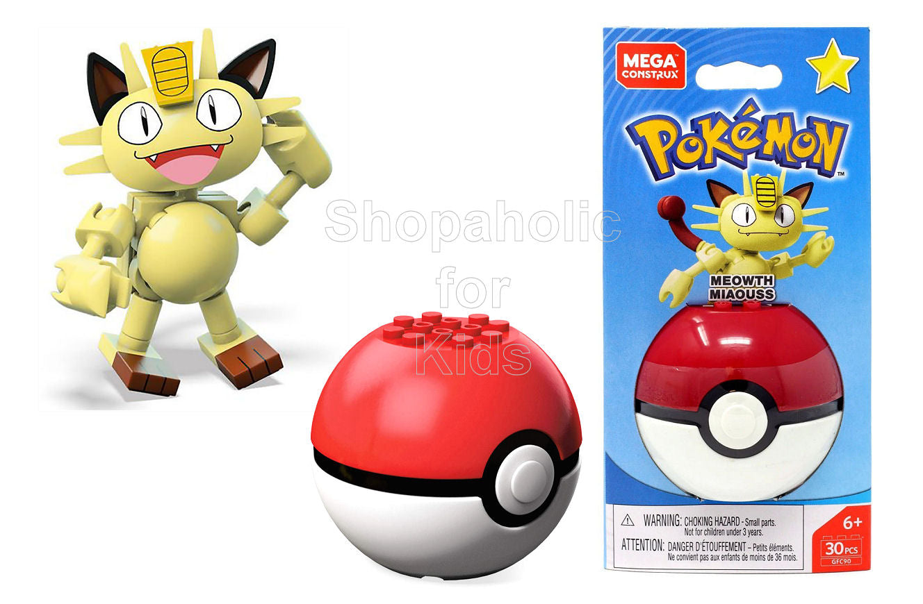 Mega Construx Pokemon - Meowth Miaouss - Shopaholic for Kids