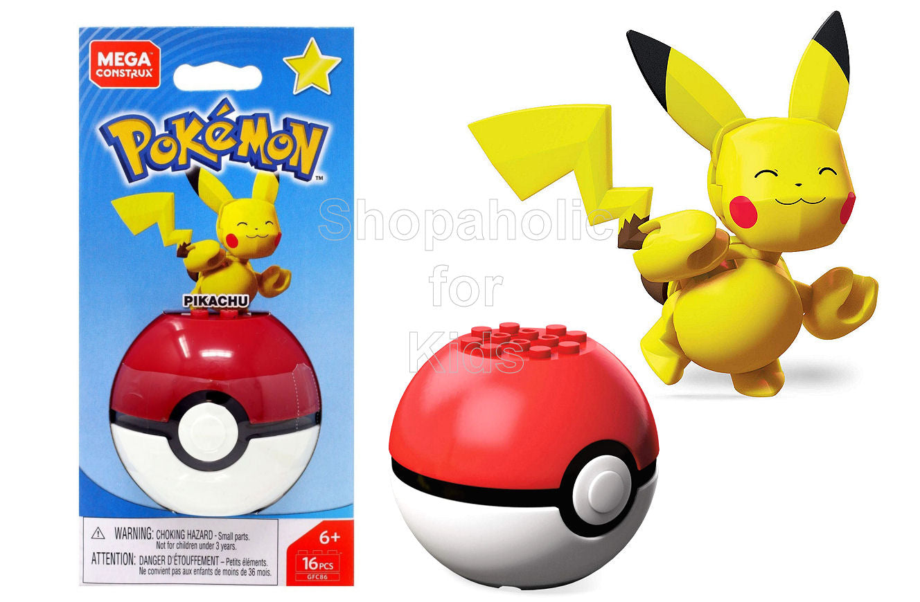 Mega Construx Pokemon - Pikachu - Shopaholic for Kids