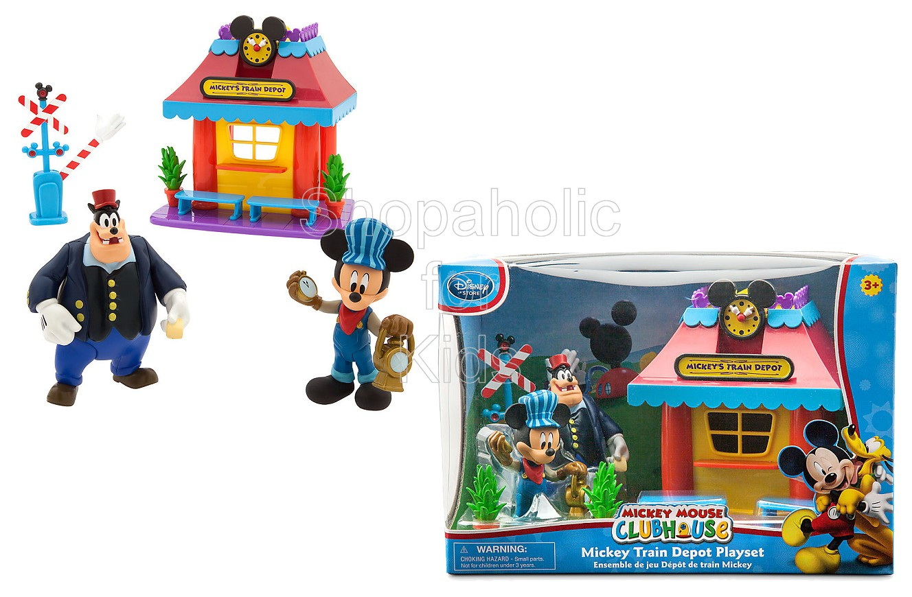 Disney Mickey Mouse Train Depot Play Set - Shopaholic for Kids