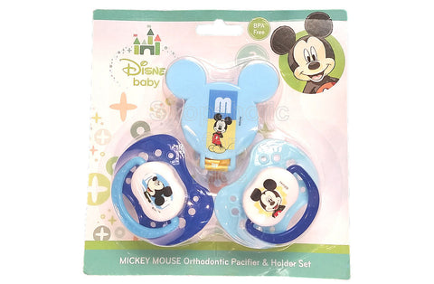 Disney Baby Mickey Mouse Pacifier & Holder Set