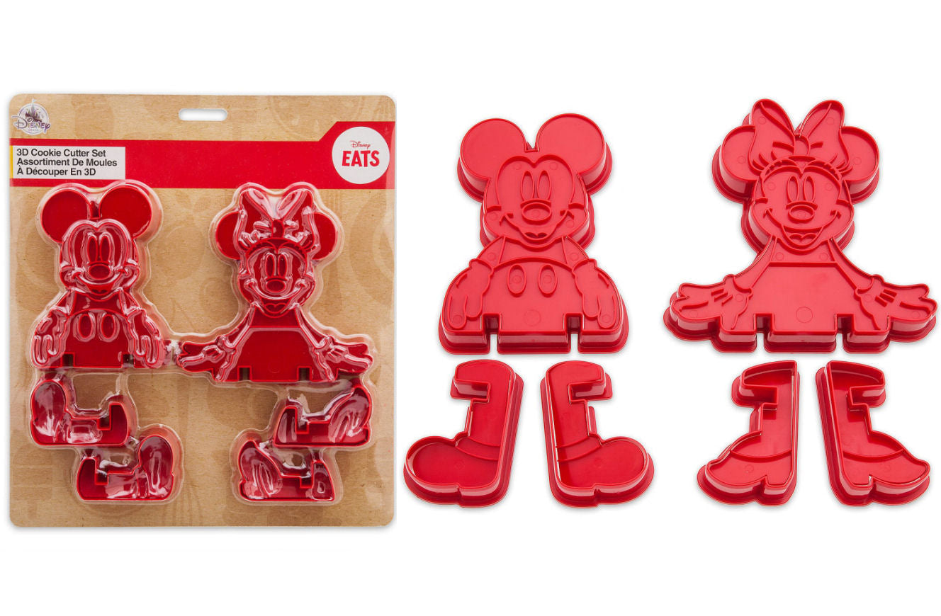 Mickey and Minnie Mouse 3D Cookie Cutter Set - Disney Eats