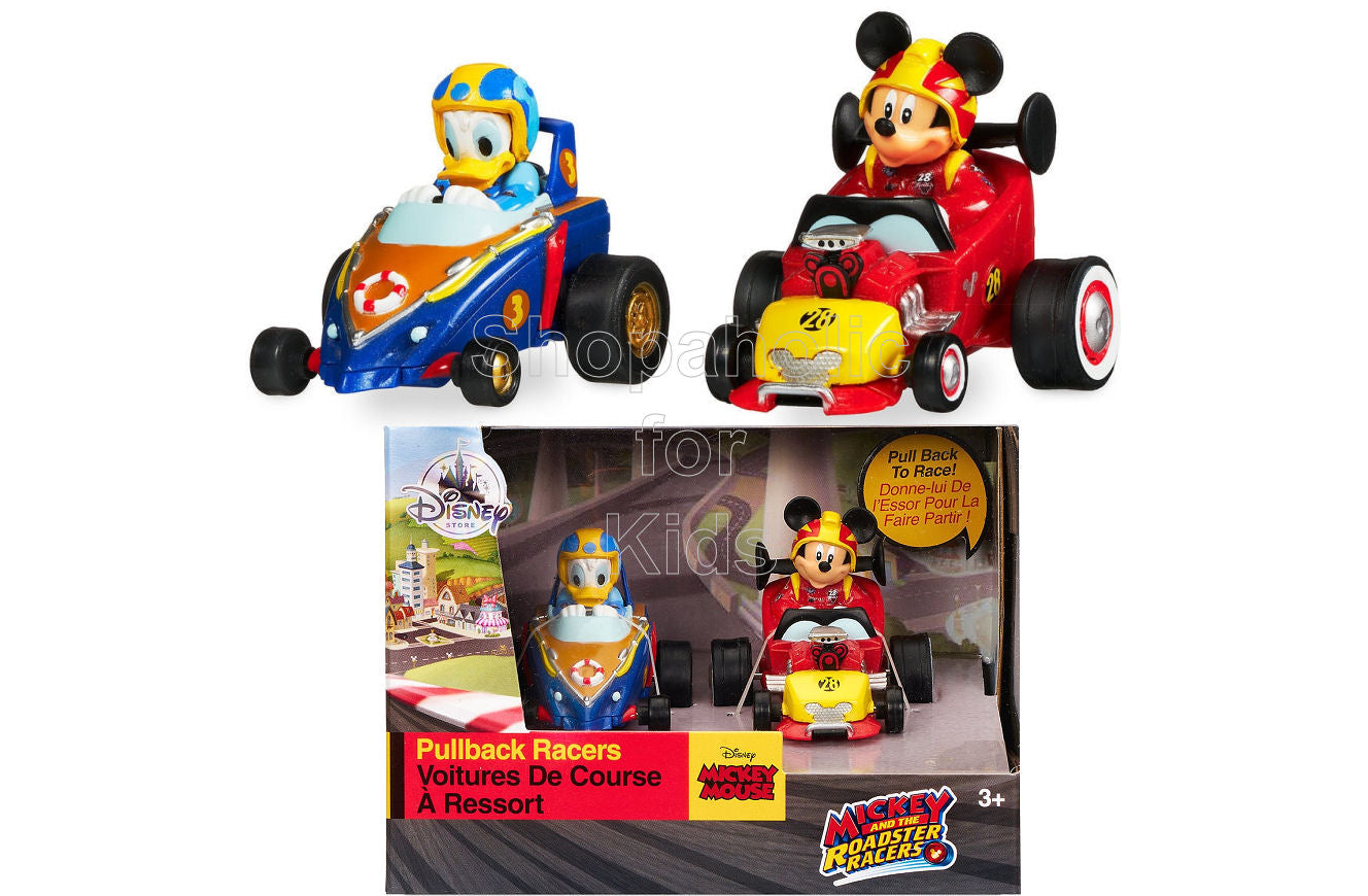 Disney Mickey and the Roadster Racers Pullback Racers Set - Mickey Mouse & Donald Duck