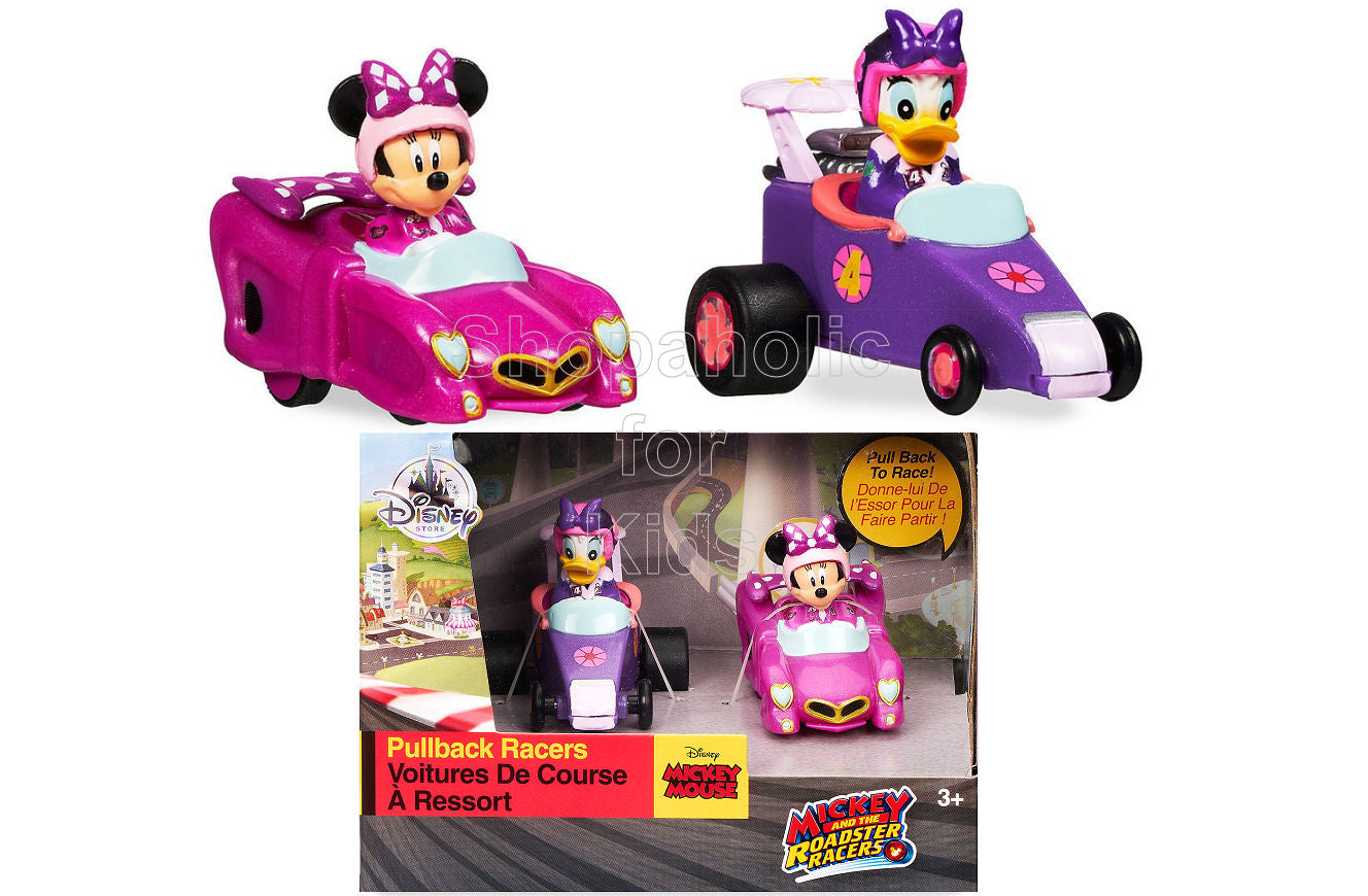 Disney Mickey and the Roadster Racers Pullback Racers Set - Minnie Mouse & Daisy Duck