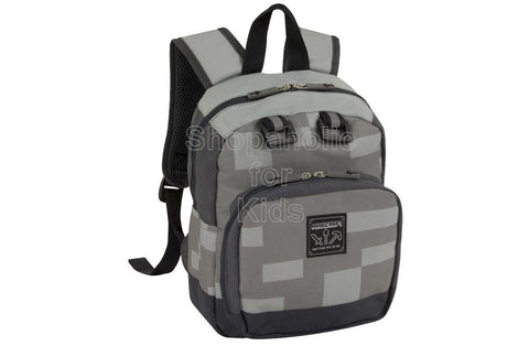 Minecraft Block Mini Backpack - Gray