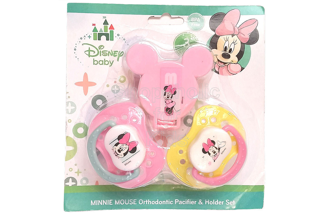 Disney Baby Minnie Mouse Pacifier & Holder Set - Shopaholic for Kids