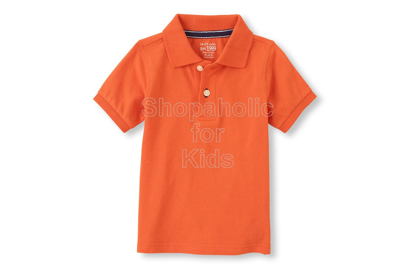 Children's Place Modern Polo - Stadmorang - Shopaholic for Kids