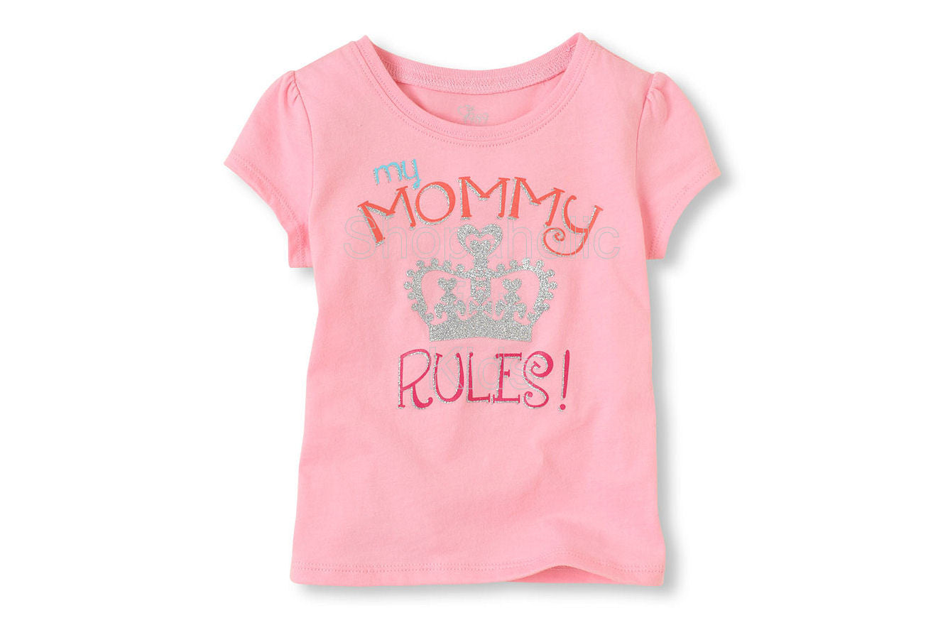 Children's Place Mommy Rules Graphic Tee - Shopaholic for Kids