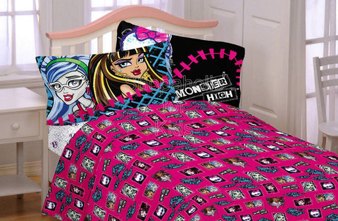 Monster High All Ghouls Allowed Bedding Twin Sheet Set