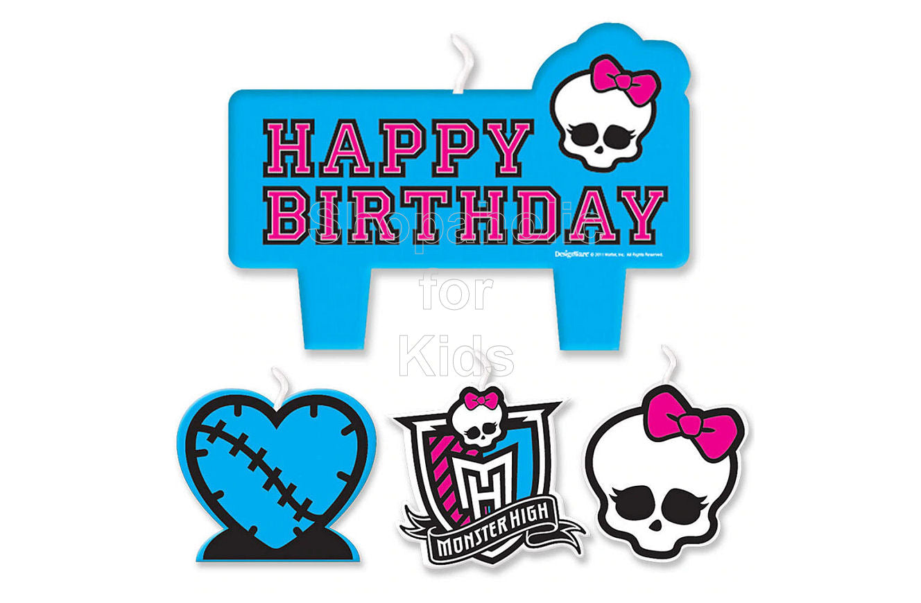 Monster High Birthday Candles 4pc Set