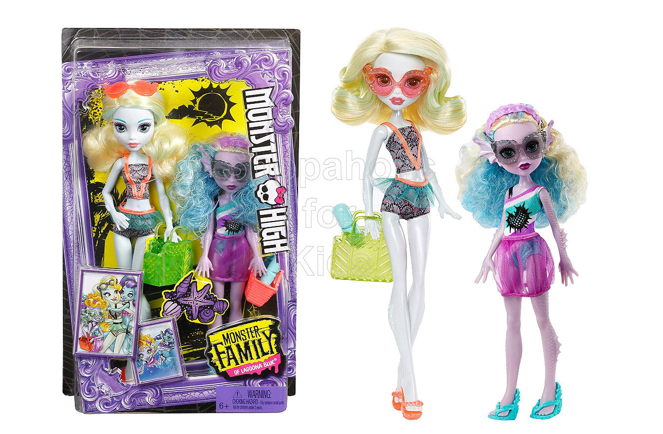 Monster High Monster Family Dolls - Lagoona Blue and Kelpie Blue Dolls - Shopaholic for Kids