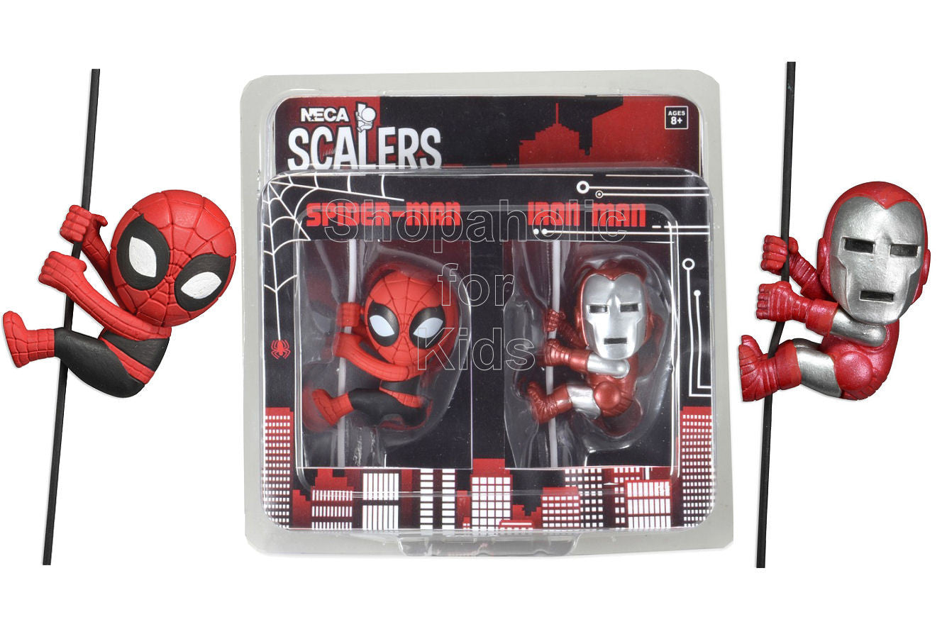 NECA Marvel Scalers Spider-Man and Iron man Exclusive 2-Pack - Shopaholic for Kids