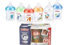Nuby Natural Touch Bottles 6oz - Pack of 6