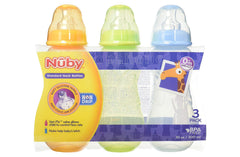 Nuby Non-Drip Standard Neck Bottles 10oz - Pack of 3 - Shopaholic for Kids