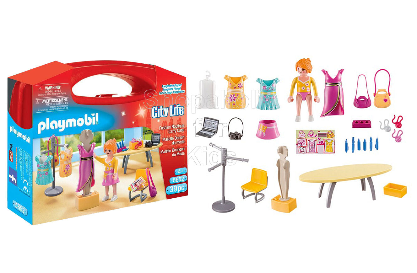 Playmobil Fashion Boutique Carry Case - Shopaholic for Kids