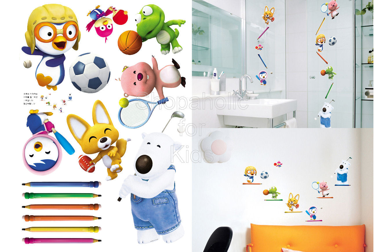 Pororo and Friends Wall Sticker (PPS-58554) - Shopaholic for Kids