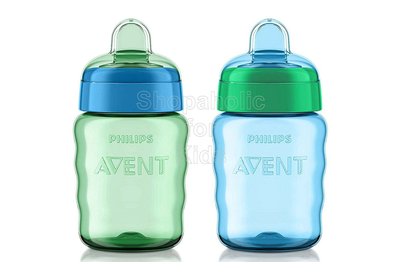 Philips Avent My Easy Sippy Cup, 9 Ounce, Blue/Green - Pack of 2 - Shopaholic for Kids
