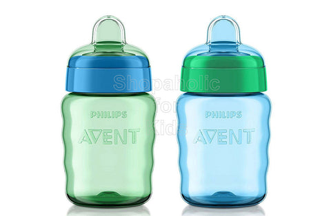 Philips Avent My Easy Sippy Cup, 9 Ounce, Blue/Green - Pack of 2