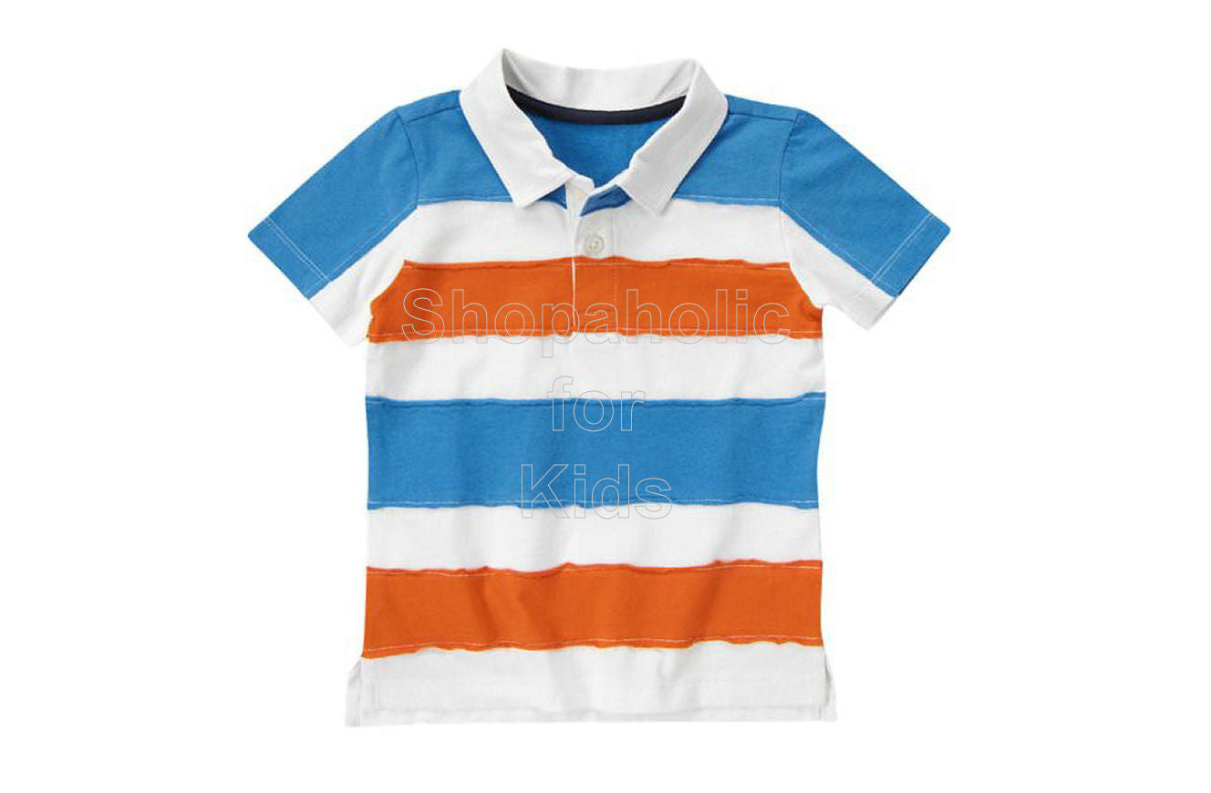 Crazy8 Pieced Stripe Polo Shirt White - Shopaholic for Kids
