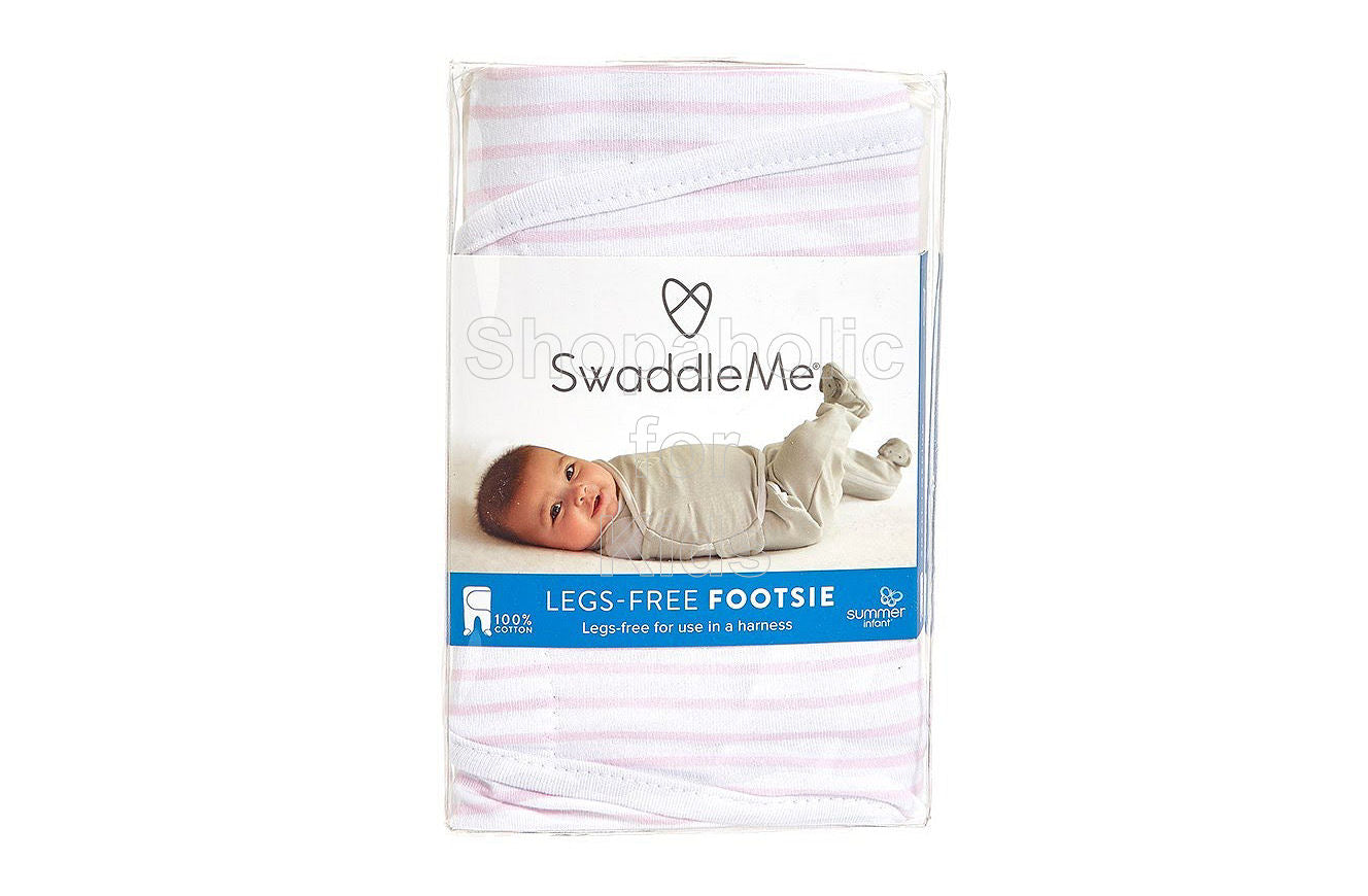 SwaddleMe Footsie Pink Stripe