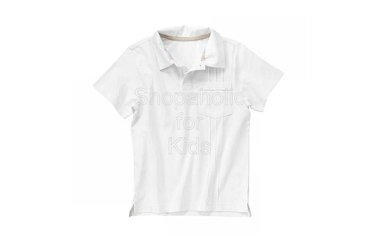 Crazy8 Pintucked Polo Shirt Color: White - Shopaholic for Kids