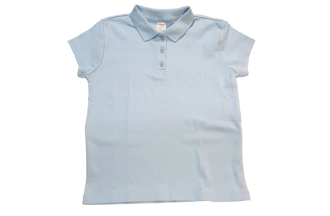 Gymboree Pique Polo for Girls Light Blue - Shopaholic for Kids