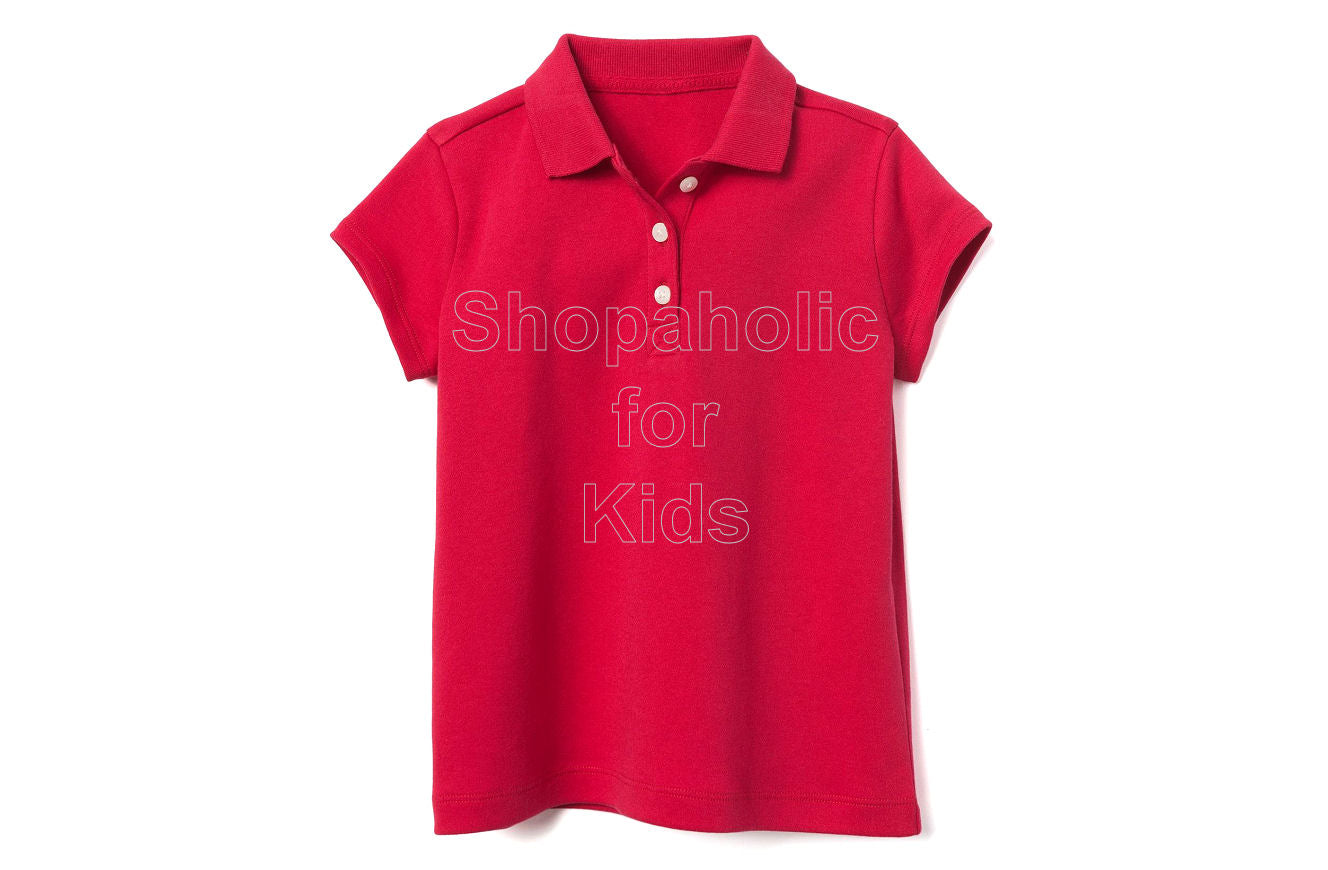 Gymboree Pique Polo for Girls Red - Shopaholic for Kids