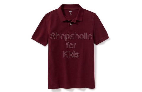 Old Navy Pique Polo - Wine Stain/Burgundy
