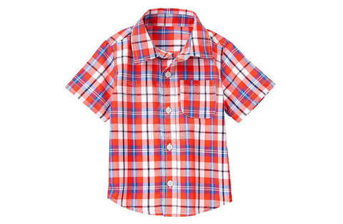 Crazy8 Plaid Shirt - Hot Red