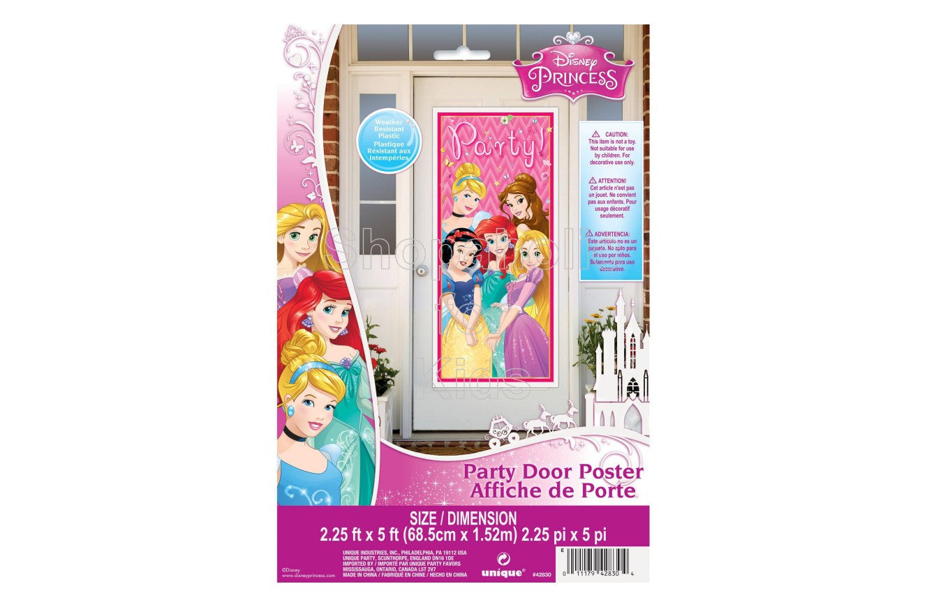 "Plastic Dream Disney Princess Door Poster, 60"" x 27"" - Shopaholic for Kids"