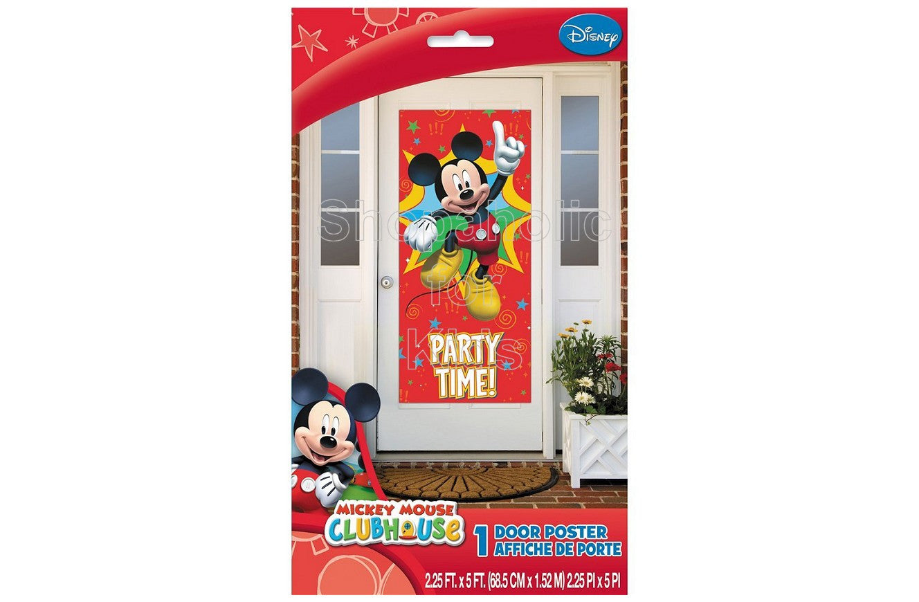 "Plastic Mickey Mouse Door Poster, 60"" x 27"" - Shopaholic for Kids"