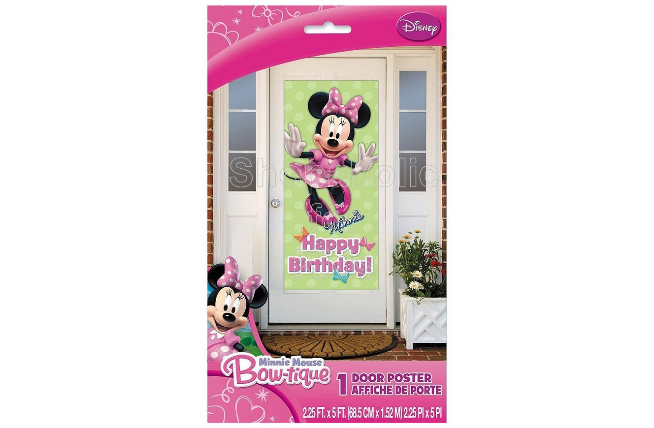 "Plastic Minnie Mouse Door Poster, 60"" x 27"""