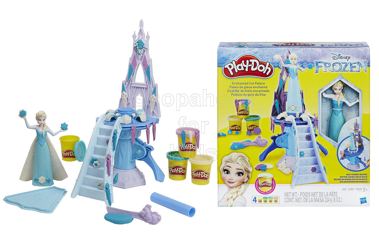 Play-Doh Disney Frozen Enchanted Ice Palace Toy with Elsa Doll - Shopaholic for Kids