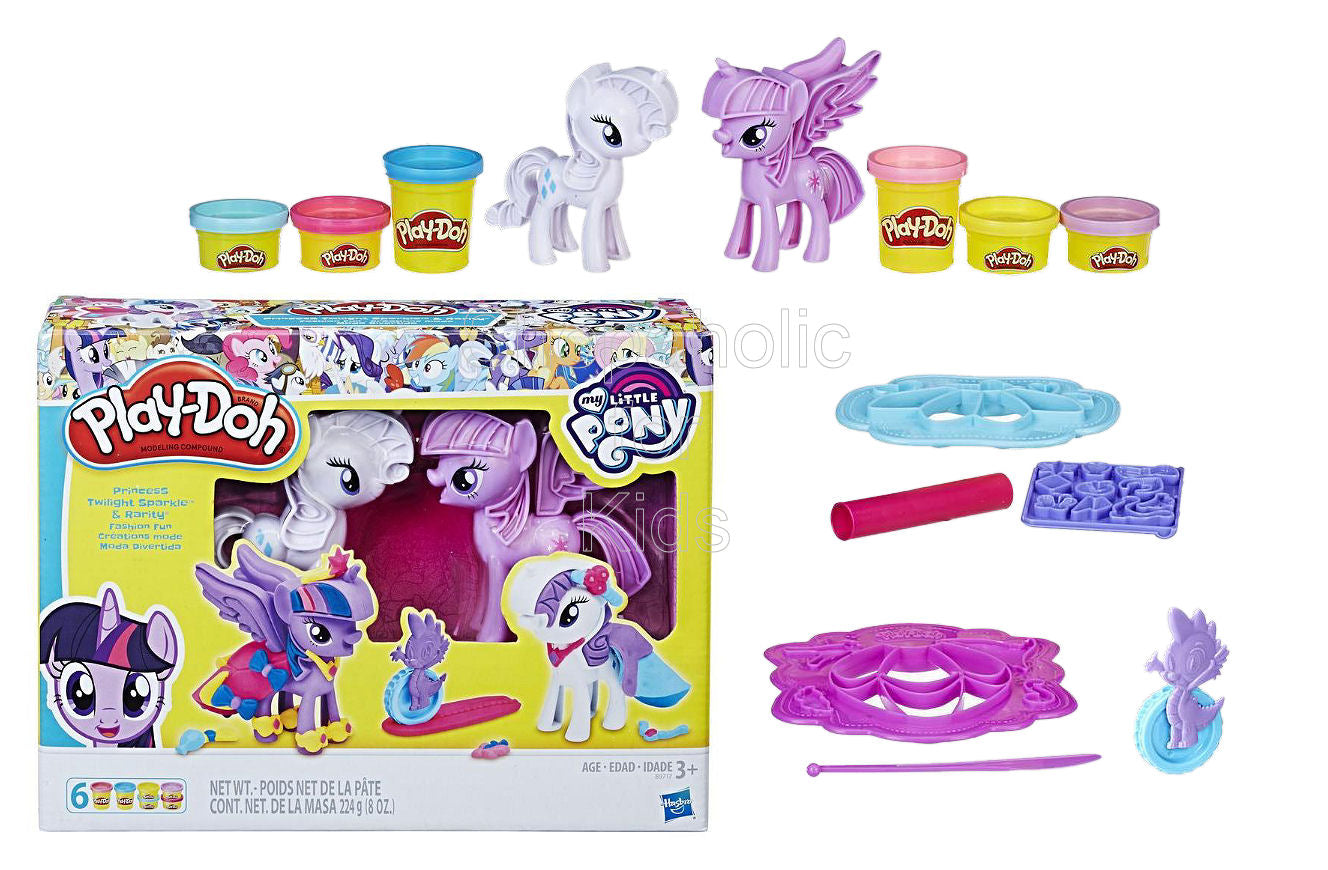 Play-Doh My Little Pony Princess Twilight Sparkle and Rarity Fashion Fun - Shopaholic for Kids