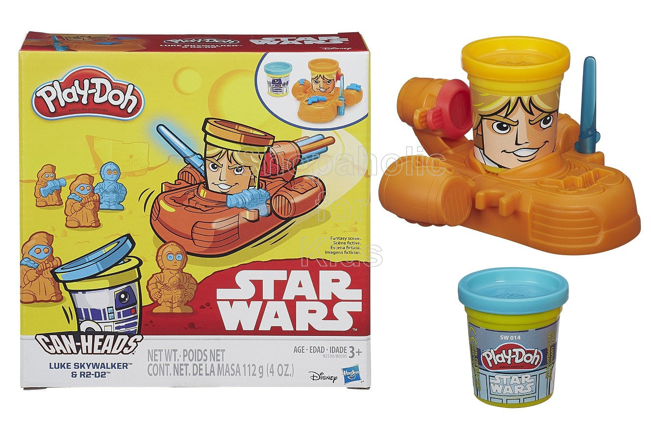 Play-Doh Star Wars Luke Skywalker and R2-D2 Can-Heads - Shopaholic for Kids