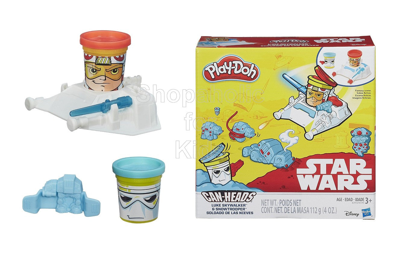 Play-Doh Star Wars Luke Skywalker and Snowtrooper Can-Heads - Shopaholic for Kids