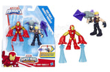 Playskool Heroes Marvel Super Hero Adventures Iron Man and Marvel's Hawkeye - Shopaholic for Kids