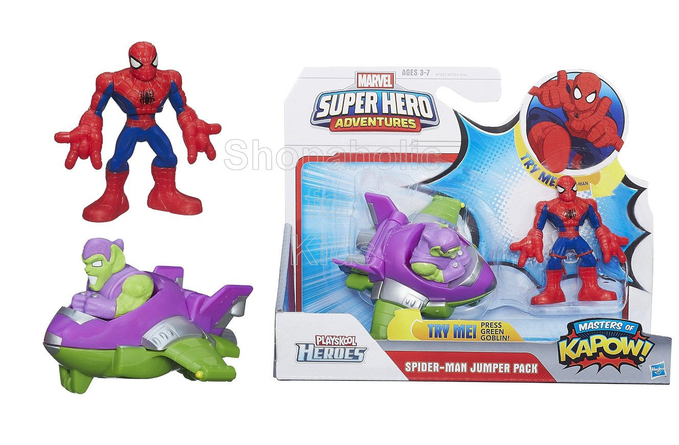 Playskool Marvel Super Hero Adventures Spider-Man Jumper Pack Masters of KAPOW!