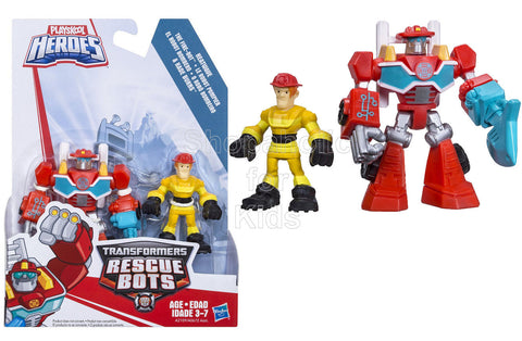 Playskool Heroes Transformers Rescue Bots Heatwave the Fire-Bot and Kade Burns Figure Pack