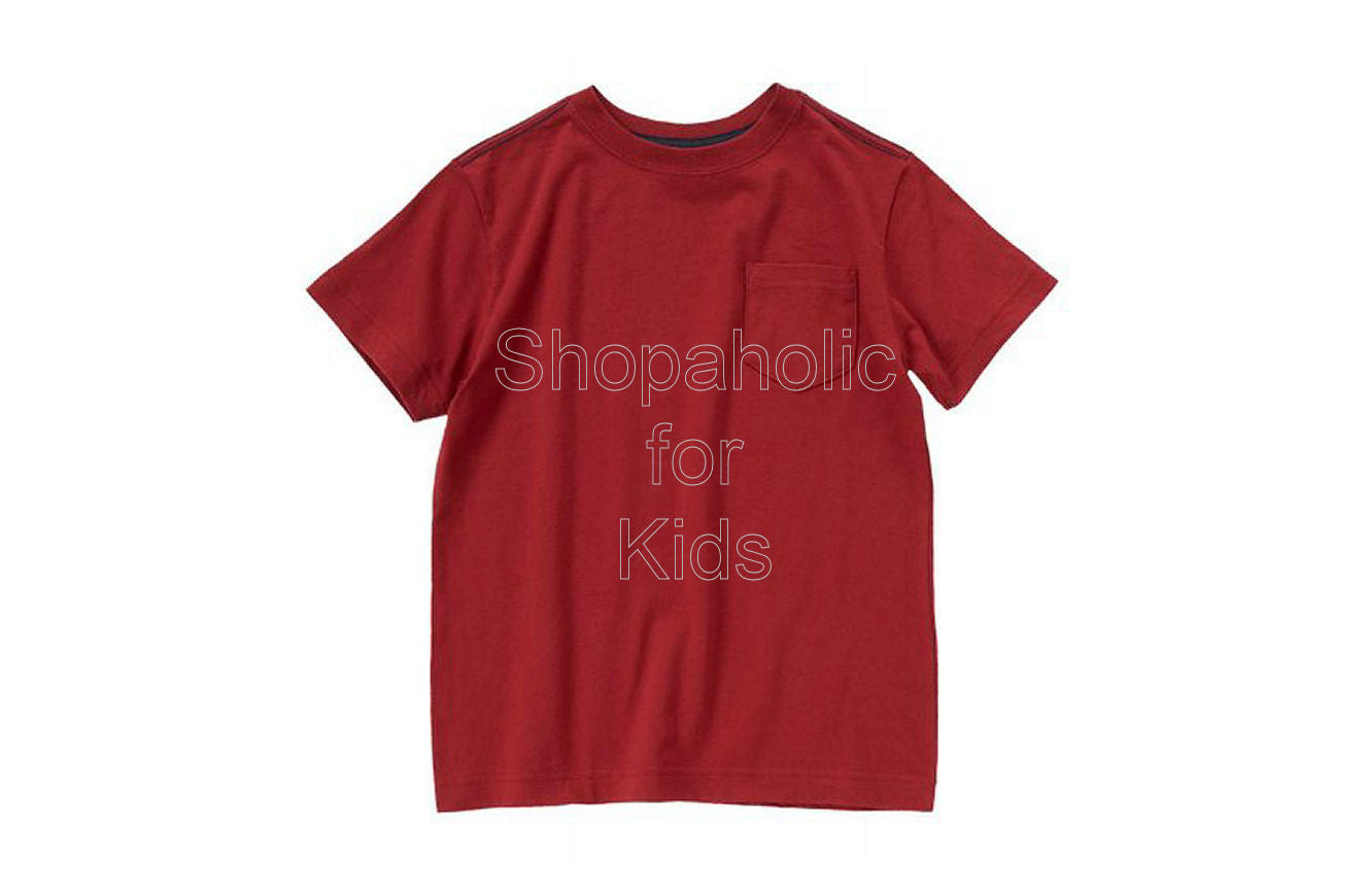 Crazy8 Pocket Tee Deep Red - Shopaholic for Kids