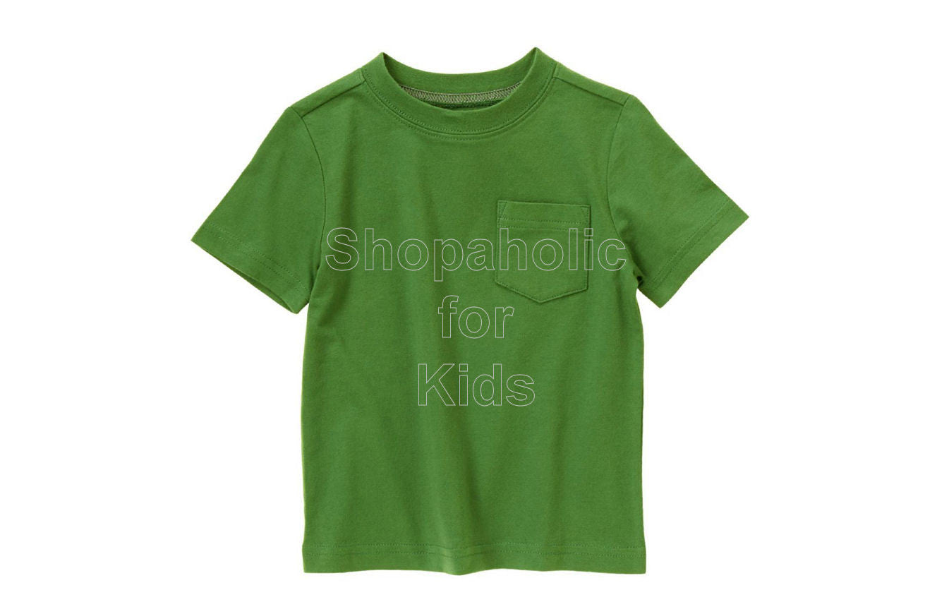 Crazy8 Pocket Tee Leaf Green - Shopaholic for Kids