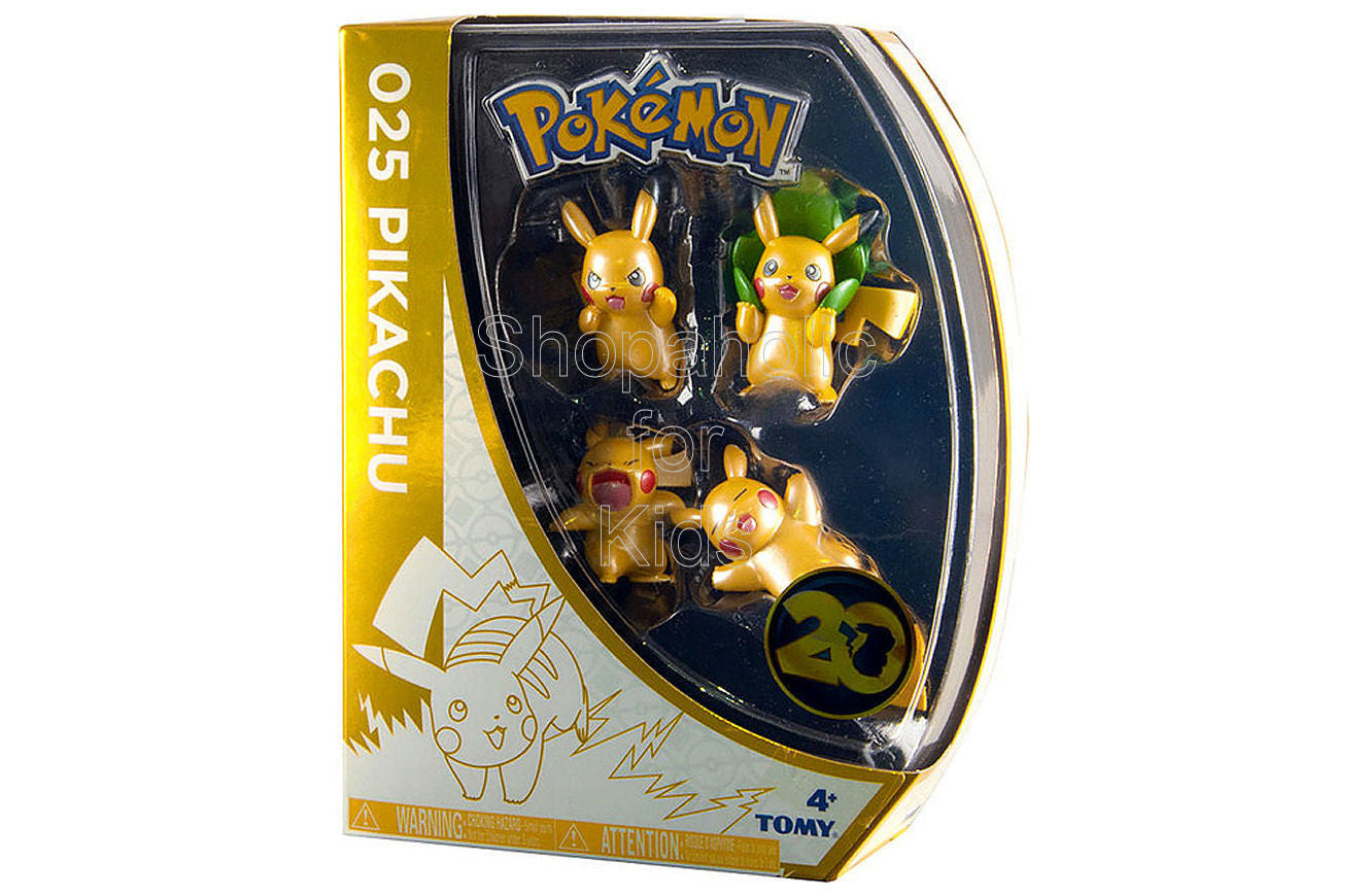 Pokemon 20th Anniversary Pikachu Figure 4 Pack (Set A)